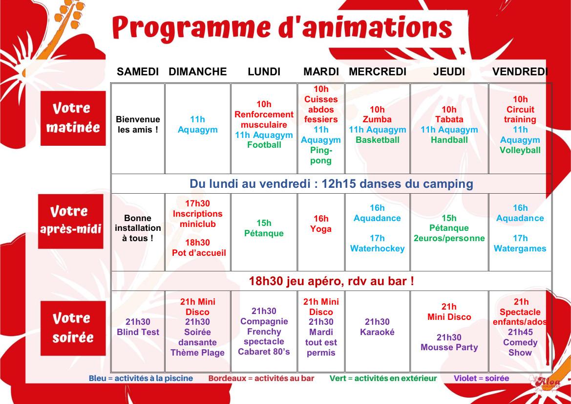 CLOS programme 17 au 24